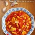 giá đỗ tương, Trứng đảo cà chua