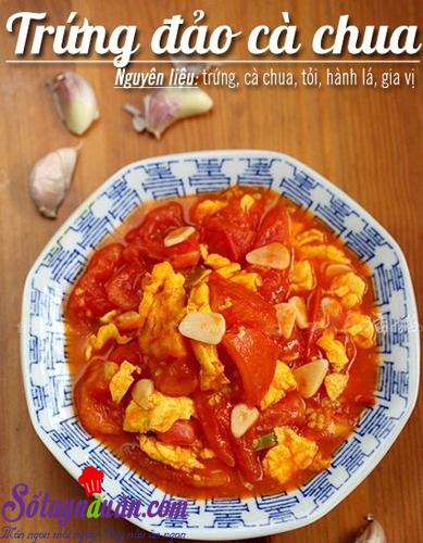 Trứng đảo cà chua - Sổ tay nấu ăn|Mon ngon moi ngay|Hướng dẫn nấu ăn