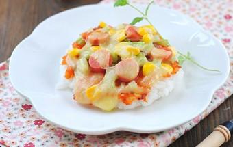 Nấu ăn món ngon mỗi ngày với Cần tây, Tự làm cơm theo kiểu pizza