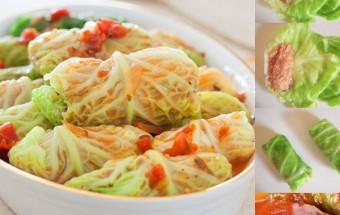 Nấu ăn món ngon mỗi ngày với Bắp cải, Bắp cải cuốn tôm thịt
