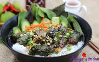 Nấu ăn món ngon mỗi ngày với Bột bắp, Bò cuốn lá lốt lạ miệng