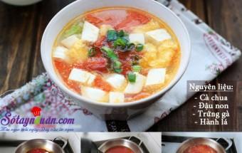 Nấu ăn món ngon mỗi ngày với Đậu phụ, Canh đậu phụ nấu trứng