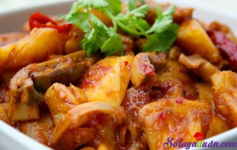 Nấu ăn món ngon mỗi ngày với Dứa, Dạ dày sốt chua ngọt
