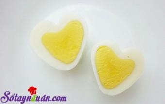 mẹo vặt gia đình, Tạo hình trái tim cho trứng