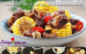 cách nấu món kho, Thịt bò kho ngô ngọt