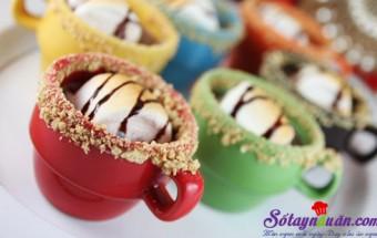 Những món ăn vặt, Thử làm sữa chocolate và marshmallow nướng
