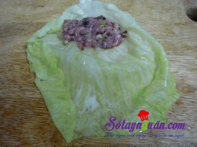 thịt cuộn bắp cải