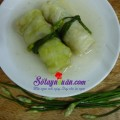 cách nấu cháo lươn, thịt cuộn bắp cải