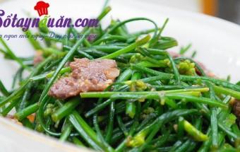 Nấu ăn món ngon mỗi ngày với Tỏi băm nhỏ, thịt bò xào hẹ