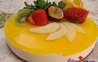 Nấu ăn món ngon mỗi ngày với Kem tươi, cách làm bánh mousse chanh leo