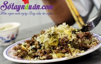 Nấu ăn món ngon mỗi ngày với Dưa chua, cơm rang dưa bò