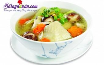 Nấu ăn món ngon mỗi ngày với Thịt gà, canh gà hầm nấm