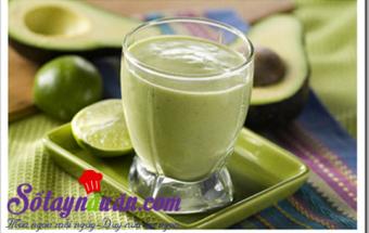 Nấu ăn món ngon mỗi ngày với Đường cát trắng, Sinh tố bơ sữa thơm ngon bổ dưỡng