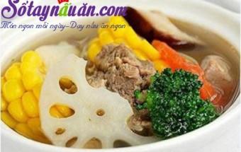 Nấu ăn món ngon mỗi ngày với Gừng băm, bò hầm củ sen ngô ngọt