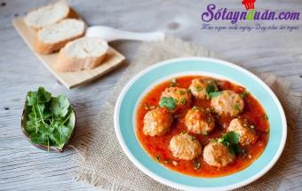 Nấu ăn món ngon mỗi ngày với Bột năng, Xíu mại chiên xốt cà chua hấp dẫn