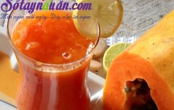 Nấu ăn món ngon mỗi ngày với Nước dừa, sinh tố đu đủ sữa dừa