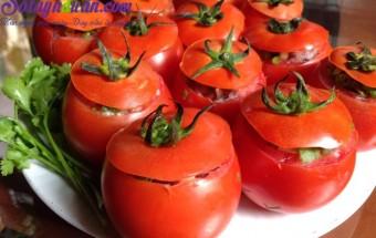 món ăn hấp, thịt đúc cà chua hấp