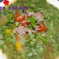 canh cá chép nấu đậu phụ, Canh thịt bò hành răm cho ngày lạnh