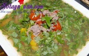 Nấu ăn món ngon mỗi ngày với Hành, Canh thịt bò hành răm cho ngày lạnh