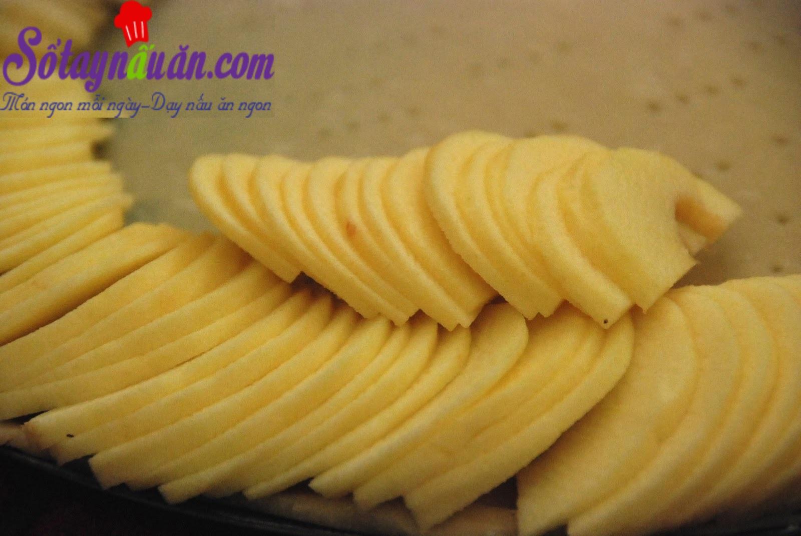 Cách làm bánh táo nở hoa cực dễ
