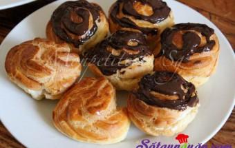 Nấu ăn món ngon mỗi ngày với Chocolate, bước 4 làm bánh su kem vani phủ socola