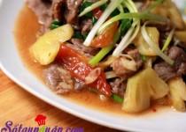 Thịt bò xào dứa thơm ngon bổ dưỡng