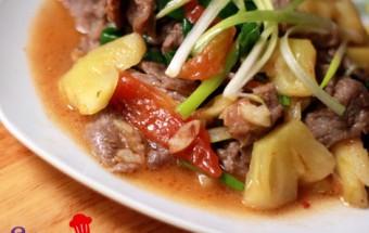 Nấu ăn món ngon mỗi ngày với Dầu hào, bo_xao_thom_buoc_6