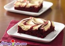 Brownies red velvet mềm ngon quyến rũ
