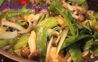 Nấu ăn món ngon mỗi ngày với Đậu Hà Lan, Đậu hà lan xào tôm nấm