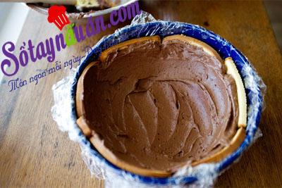 làm bánh chocolate  hạnh nhân4