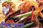 Nấu ăn món ngon mỗi ngày với Dưa chuôt, Miến xào thịt bò