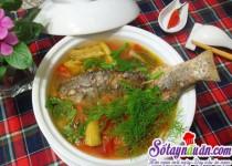 Canh riêu cá cho bữa cơm thơm ngon