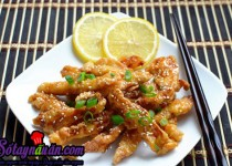 Thịt gà sốt chanh cho bữa ăn thêm ngon miệng