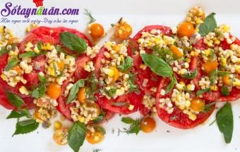 Nấu ăn món ngon mỗi ngày với Ớt chuông, salad cà chua ngô ngọt