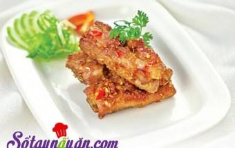 Nấu ăn món ngon mỗi ngày với Sườn lợn, sườn chiên tỏi ớt