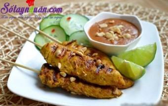 , Thịt gà xiên que nướng kiểu Thái
