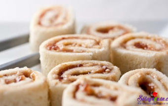 Nấu ăn món ngon mỗi ngày với Bánh mì sandwich, Sushi Sandwich bơ đậu phộng