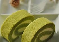 Thơm mát xốp mịn món bánh bông lan cuộn vị trà xanh