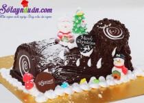 Cách làm bánh Sôcôla khúc cây, món quà Noel