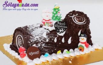 món ăn ngon từ chocolate, banh_noel_khuc_cay
