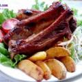 hướng dẫn cách làm gỏi xoài tôm thịt, bẹ sườn nướng 3