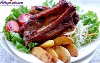 khoai tây, bẹ sườn nướng 3