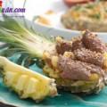 Thịt xông khói cuộn phô mai thơm ngon béo ngậy, bò cuốn trái thơm