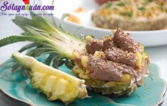 Nấu ăn món ngon mỗi ngày với Dứa, bò cuốn trái thơm