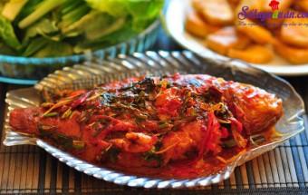 Nấu ăn món ngon mỗi ngày với Hành hoa, cá sốt cà chua