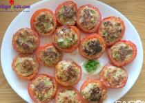 Hướng dẫn nấu món cà chua nhồi thịt heo chiên giòn