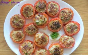 món ngon miền tây, cà chua dồn thịt 9