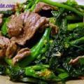 món ăn chay, cải xào thịt bò