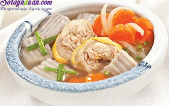 Nấu ăn món ngon mỗi ngày với Đùi gà, gà hầm khoai môn