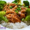 salad rau, gà sốt mật ong 10
